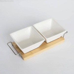 full set ceramic bamboo Desserts bowl tray Snack plate fruit bowl dish plate tableware breakfast tray kitchen home supply