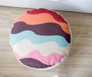 Geometric patterns Color plaid cushion pillow lazy style linen meditation almohada futon tatami small sofa cushions 15cm thick