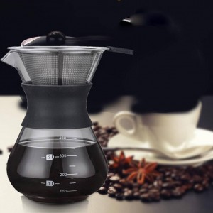 Glass Express Drip Portable Coffee Pot Kettle Maker Espresso Machine With Stainless Steel Filter Barista Pitcher Percolator