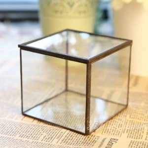 Glass Flower Room Yongsheng Flower Geometric Glass Flower Room Beautiful Glass Jewelry Box Gift