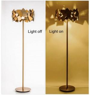 Gold luxurious Post Modern stainless steel LED Floor Lamp Living Bedroom Art Decoration Floor Light Minimalism standing lamp