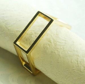 gold metal napkin ring, napkin holder for wedding,24 pcs