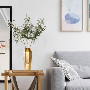Golden ceramic vase decoration Nordic table living room creative simple home decoration flower arranger Vaso Decorativo Vases