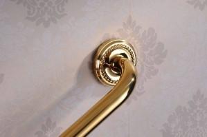 Grab Bars Gold Brass Bathroom Armrest Bathtub Safety Grab Bar Towel Rack Home Toilet Elderly Child Non Slip Handrail HJ-1314k