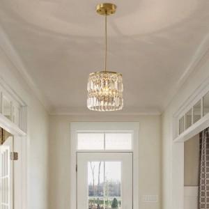Hallway 1-3 pcs hanging crystal Pendant Lights for Dining Room home copper kitchen lighting Lustre living room Led bar Hanglamp
