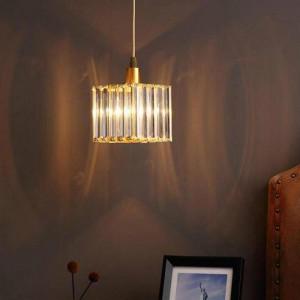 Hallway 1 pcs mini crystal pendant Lamp for Kid's bedroom Lamparas Bedside Lamp dining room E14 Led Porch Light crystal bar lamp