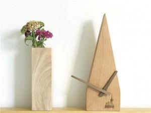 Handmade Beech Creative Scanning Second Silent Clock Log Wall Desk Clock Wood Wall Clocks Modern Design