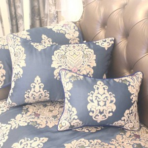 HAO JOY New Royal Blue Euro Luxury Charm Jacquard Cushion Cover Home Decor Square Flowers All match Pillow Case
