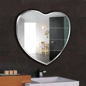 Heart-shaped bathroom mirror bathroom makeup mirror wall hanging mirror wall toilet decorative mirror wx8221945