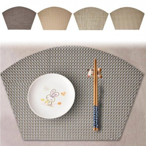 Heat Insulation Tableware Mat Multifunctional Fan Shaped Tableware Pad Effective Insulation Pad Non Fading Tableware Mats