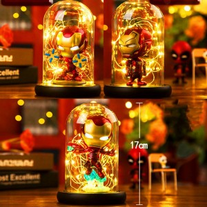 Hero Spider LED Table Lamp Marvel Super Iron Man Hulk Deadpool LED Lamp Night Light Multicolor Christmas Decor Kids Gift Toys