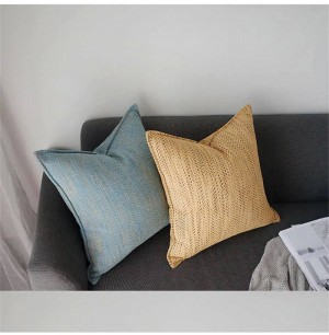 Herringbone Chenille Cushion Cover Designer Luxury Chic Decorative Pillows Case Almofadas Cojines Sofa Solid 5 Colors Car Covers