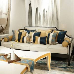 High-end Club Cushion Cover Cojines Decorativos Para Sofa Noble Luxury Pillow Cover Patchwork Geometry Decorative Throw Pillows