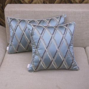 High-end Modern Blue Plaid Grid Chic Design Cushion Cover Model Room Pillow Case Decor capa de almofada