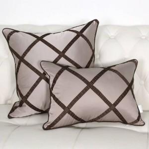 High-end Modern Dark Plaid Grid Unique Design Cushion Cover Model Room Pillow Case Home Bed Decor capa de almofada