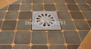 High quality 10cm Stainless steel floor drain bathroom kitchen shower double anti-odor floor drain Square bath drain BS-9016