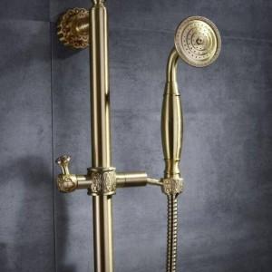 High quality Fashion Bathroom Black Shower mixer set with shower bar bathtub mixer set Hot and Cold Copper Color shower XT376