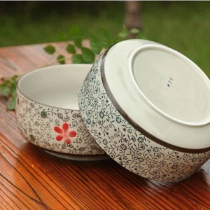 High temperature ceramic blue and white porcelain big soup bowl ceramic bowl kitchen utensils Large ramen