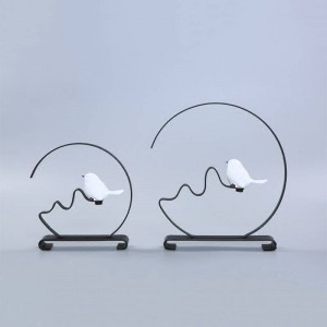 Home Decor Circle Round Metal Bird Shop Gift On Sale Metal Crafts Art Decor Creative Designs Crystal Book End Book Stop