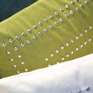Home Decor Designer Luxury 3D Throw Cushion Cover Velvet Handmade Beading Pillow Case Chair Sofa Royal Family Funda Cojines