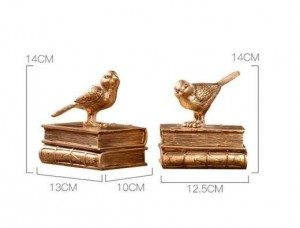 Home Decoration Accessories Modern Bookend Book Stop Fairy Garden Vintage Home Decor Gold Bird Miniature Garden Paris