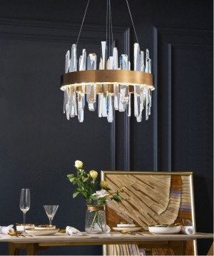Home G4 led Pendant Lights for Dining Room Cafe kitchen square led fixture Crystal Lampe indoor Lighting Restaurant led Lustres