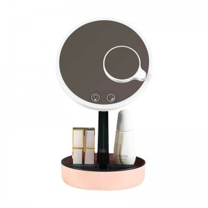 Household makeup mirror desktop with led light girl dressing table fill light mirror night light for bedroom mx12291420