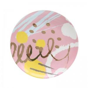 InsFashion fantatics round colorful ceramic jewelry and cosmetics storage dish for fashion girl