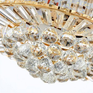 Invisible Ceiling Fan crystal pendant light Living Room Ventilador de techo Ceilin Lights 42 Inch Modern Cooling Fan Fixtures