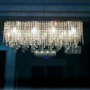 Italy pendant crystal light for coffee shop & dining room lustres de cristal Modern showcase Rectangular led K9 crystal lighting