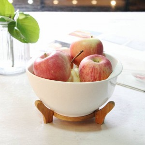 Japanese tableware ceramic bowl Household large soup bowls with lid Fruit salad bowl Pure white binaural bowl with lid