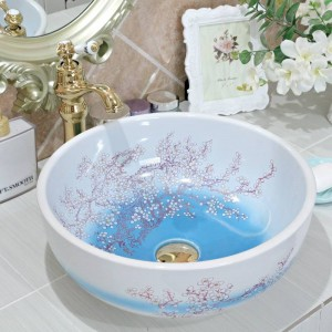 ceramic sanitary ware art counter basin wash basin lavabo sink Bathroom sink ceramic sinks plum blossom