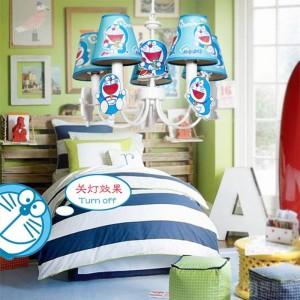 """kid's DORAEMON light cosplay pendant lamp for Children room 19"""" blue led Lamparas Boy Bedroom baby princess led pendant lights"""