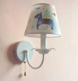 kids novelty horse lamp shade hanging lighting Korean style Cartoon lamp Pendientes Children room Bedroom iron chandelier lampe