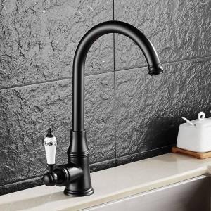 Kitchen Faucet Antique Brushed Porcelain Handle Faucet Hot Cold Mixer Basin Tap Luxury Faucet 360 Swivel 9098