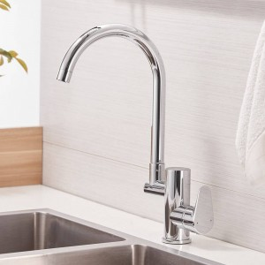 Kitchen Faucet Digital Kitchen Faucet Water Power Sink Mixer Brass Chrome Plated Temperate Display Faucet Smart Tap LAD-16588