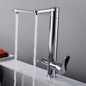 Kitchen Faucets Black Purify Crane For Kitchen Deck Mounted Water Filter Tap Three Ways Sink Mixer 3 Way Kitchen Faucet LAD-0197