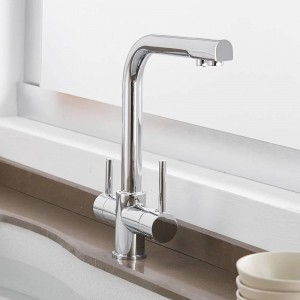 Kitchen Faucets Solid Brass Crane For Kitchen Deck Mounted Water Filter Tap Three Ways Sink Mixer 3 Way Kitchen Faucet LAD-0183