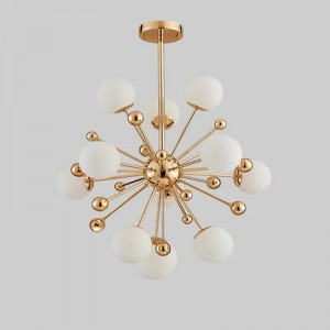 Lamparas Nordic Light Dandelion Glass Ball LED Bedroom Living Room Pendant Lights Simple Restaurant Deco Hanging Lamp Fixtures