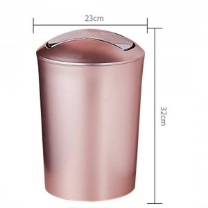 Large Capacity 10L European Style Durable Garbage Can Plastic Trash Wastebin with Lid Bathroom Kitchen Garbage Cans Supplies