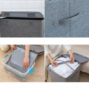 Large Washable Dirty Clothes Storage Basket Household Simple Storage Laundry Basket Bedroom Clothes Storage Bucket Foldable