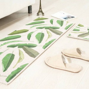 Leaf pattern MAT Square Cushion Kitchen Door Pad Bathroom Non-slip Remove dust Door Mats Coffee Table Carpet Bedding mats rugs