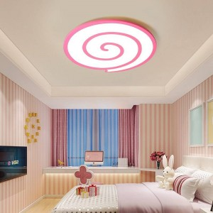 Led ceiling lights with crystal sweetheart around and white surface dimmer or switch for sitting room or bedroom