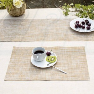 Lekoch 5pcs/lot PVC Table Placemats Non-slip Insulation Placemat Washable Table Mats Coffee Coasters For Dining Kitchen Table
