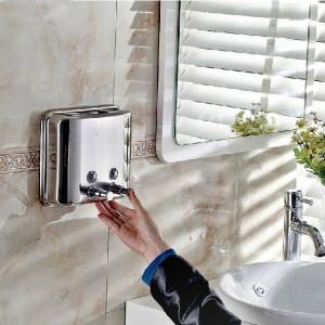 Liquid Soap Dispensers 1500ml Stainless Steel Wall Mount Soap Dispenser Kitchen Bathroom Washroom Shampoo Dispenser Z-1500ml