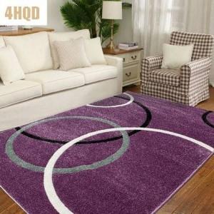 Living room Coffee table Simple modern bedroom Bedside blanket American pastoral home with rectangular carpet