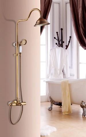 Luxury Antique Thermostatic shower set shower faucet Hot and Cold Anqtique Shower Faucet Bathtub thermostatic Shower mixer XT403