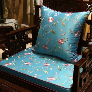 Luxury Charm Embroidery Cushion Cover Vines Blooming Design Capa de Dlmofada Sofa Car Bedding Decorative Plant Throw Pillow Case