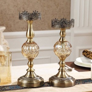 Luxury Metal Candlestick Home Decoration Table Model Room Soft Decorations Ornaments European Candlelight Dinner Props
