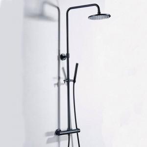 Luxury Thermostatic Bathroom Shower Set Black Hot and Cold Shower faucet Bathtub thermostatic shower mixer faucet XT406